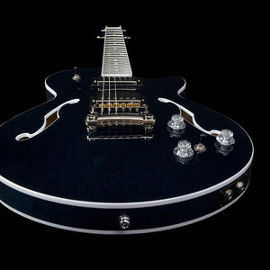 Godin 047789 Montreal Premiere Hollowbody 6 String RH Guitar - Indigo Blue w/ Tric Case - The Guitar World