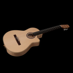 Godin Arena Flame Maple CW Crescent II 6 String RH Classical Acoustic Electric Guitar with Gig Bag 049592
