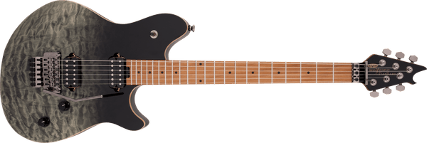 EVH Wolfgang WG Standard QM, Baked Maple Fingerboard in Black Fade