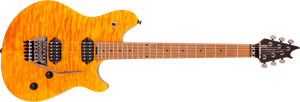 EVH Wolfgang WG Standard QM, Baked Maple Fingerboard in Transparent Amber