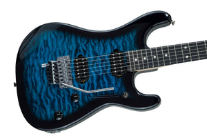 EVH 5150 Deluxe Series Electric Guitar with Quilted Maple Top in Blue Burst