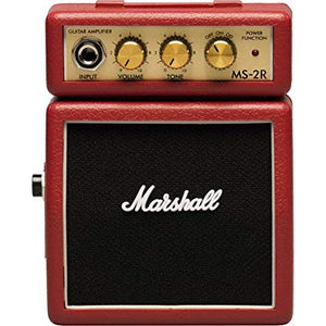 Marshall MS-2R Micro Amplifier Red - The Guitar World
