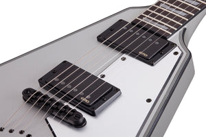 Schecter V-1 Platinum 6-String Electric Guitar Satin Silver 820-SHC - The Guitar World