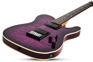 Schecter PT PRO Ebony Fretboard Electric Guitar Trans Purple Burst 863-SHC - The Guitar World