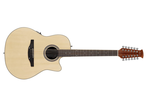 Applause Guitars Balladeer 12-String Acoustic/Electric Guitar Natural AB2412II-4 - The Guitar World