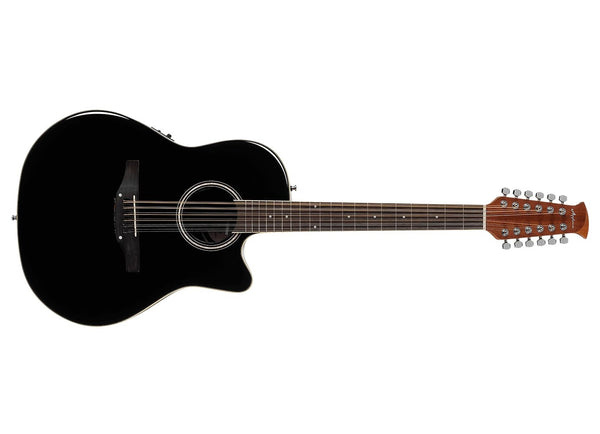 Applause Guitars Balladeer Mid Depth 12-String Acoustic-Electric Guitar Black AB2412II-5 - The Guitar World