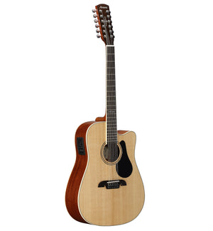 ALVAREZ ARTIST AD60-12CE ARTIST 60 SERIES DREADNOUGHT 12-STRING ELECTRIC, NATURAL GLOSS FINISH - The Guitar World
