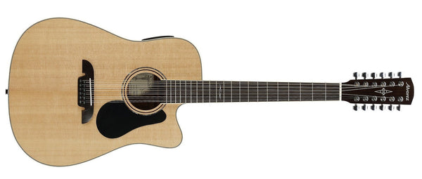 ALVAREZ ARTIST AD60-12CE ARTIST 60 SERIES DREADNOUGHT 12-STRING ELECTRIC, NATURAL GLOSS FINISH