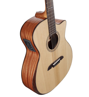 ALVAREZ ARTIST AG60CEAR GRAND AUDITORIUM ACOUSTIC ELECTRIC WITH CUTAWAY AND BEVEL EDGE ARMREST, NATURAL GLOSS FINISH