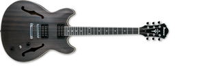 Ibanez Artcore Hollowbody Guitar IN Transparent Black Flat AS53-TKF