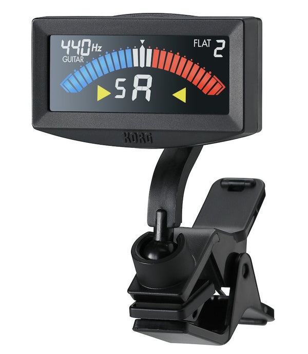 Korg PitchCrow-G Clip On Tuner - Black AW4G-BK - The Guitar World