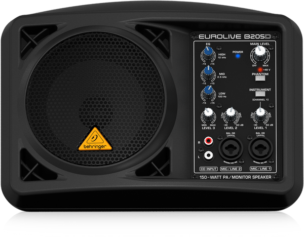 BEHRINGER EUROLIVE B205D Ultra-Compact 150-Watt PA/Monitor Speaker System - The Guitar World