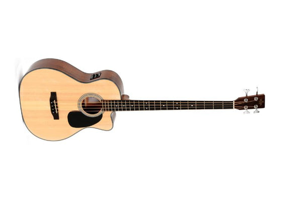 Sigma Guitars Acoustic Electric Bass, Natural