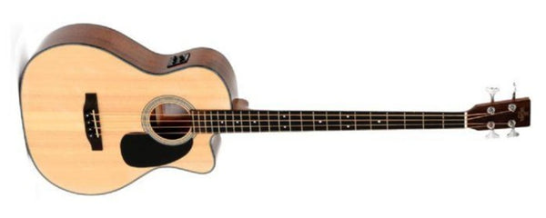 Sigma Guitars Acoustic Electric Bass, Natural Item