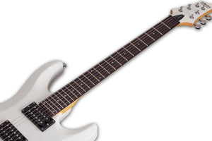 Schecter C-6 Deluxe in Satin White SWHT SKU 432 - The Guitar World