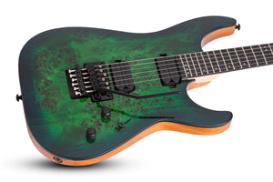 SCHECTER C-6 Pro FR Aqua Burst - 3635 - The Guitar World
