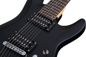 Schecter C-7 Deluxe in Satin Black SBK SKU 437 - The Guitar World