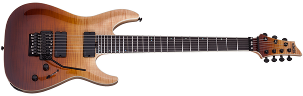 Schecter C-7 7 String FR SLS Elite with Floyd Rose - Antique Fade Burst 1356-SHC - The Guitar World