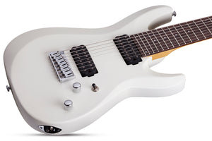 Schecter C-8 Deluxe Satin White 8 String Guitar 441 - The Guitar World