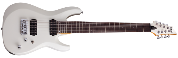 Schecter C-8 Deluxe Satin White 8 String Guitar 441