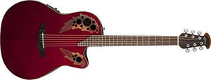 Ovation Celebrity Elite Mid-Depth Cutaway Ruby Red CE44-RR