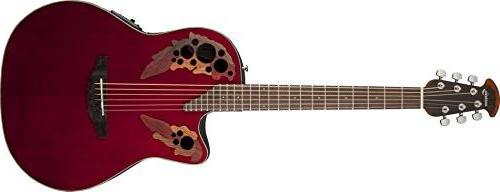 Ovation Celebrity Elite Mid-Depth Cutaway Ruby Red CE44-RR - The Guitar World