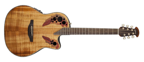 Ovation Celebrity Elite Plus Mid-Depth Cutaway, Figured Koa CE44P-FKOA