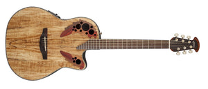 Ovation Celebrity Elite Plus Mid-Depth Cutaway, Spalted Maple CE44P-SM