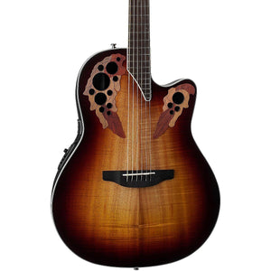 Ovation Celebrity Elite Plus Super Shallow Acoustic-Electric Guitar Koa Burst CE48P-KOAB - The Guitar World