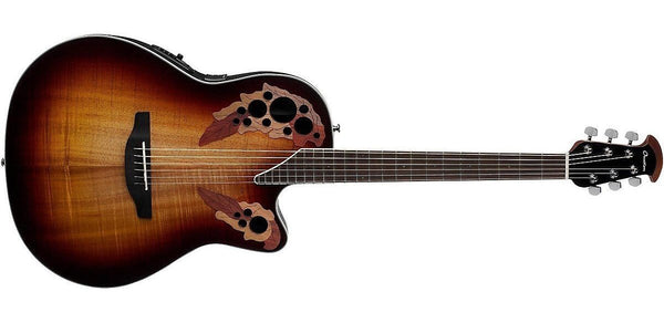 Ovation Celebrity Elite Plus Super Shallow Acoustic-Electric Guitar Koa Burst CE48P-KOAB