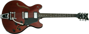 Schecter CORSAIR-BIGSBY-GWAL Gloss Walnut Guitar with Bigsby B 70 and Duncan D HB 10 1846-SHC