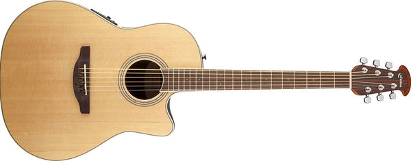 Ovation Nylon Cedar Top Mid Depth Acoustic Electric Guitar Natural CS24C-4 - The Guitar World