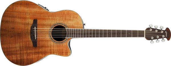 Ovation Celebrity Standard Plus Mid-Depth Cutaway, Figured Koa CS24P-FKOA - The Guitar World