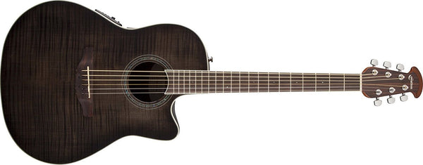 Ovation Celebrity Standard Plus Mid-Depth Cutaway Trans Black Flame Maple CS24P-TBBY