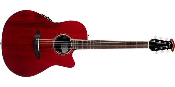 Ovation Celebrity Standard Super Shallow Acoustic-Electric Guitar Ruby Red CS28-RR - The Guitar World
