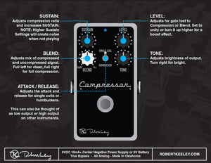 Keeley Compressor Plus Pedal KCOMPPLUS - The Guitar World