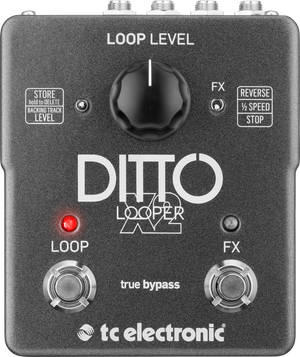 TC ELECTRONIC DITTO X2 LOOPER Highly Intuitive Looper Pedal with Dedicated Stop Button and Loop Effects
