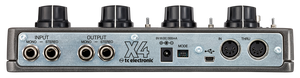 TC ELECTRONIC DITTO X4 LOOPER Simple and Intuitive Dual-Track Guitar Looper Pedal with Powerful Loop Effects