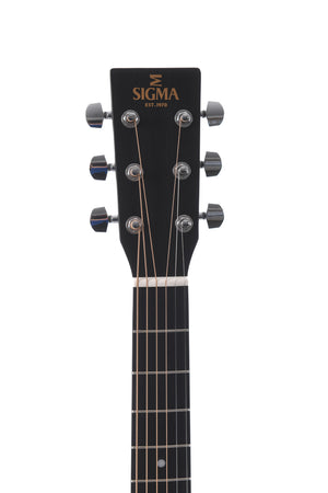 Sigma Guitars Acoustic Electric Guitar with Pickup - DMCE-BKB+