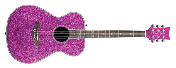 Daisy Rock Guitars Pixie Acoustic Pink Sparkle Guitar DR6205 - The Guitar World