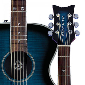 Daisy Rock Guitars Pixie Acoustic-Electric Guitar Blueberry Burst DR6221 - The Guitar World