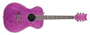 Daisy Rock Guitars Pixie Acoustic/Electric Guitar 3 Band EQ, Pink Sparkle DR6225 - The Guitar World
