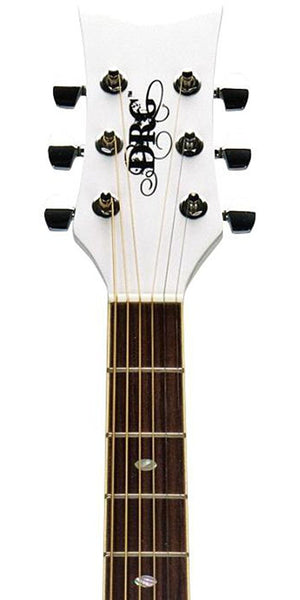 Daisy Rock Guitars Wildwood Acoustic / Electric Guitar Pearl White DR6274 - The Guitar World