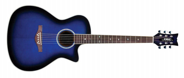 Daisy Rock Guitars Wildwood Artist Acoustic/Electric Guitar, Royal Blue Burst DR6278 - The Guitar World