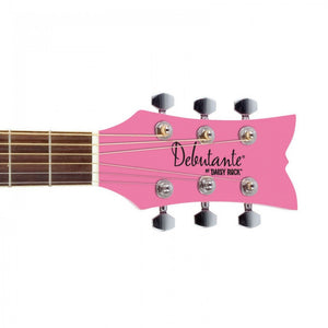 Daisy Rock Guitars Debutante Jr. Miss Acoustic Short Scale Bubblegum Pink Guitar DR7400 - The Guitar World