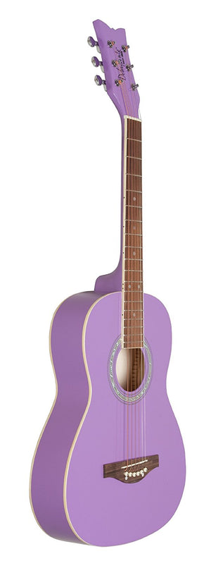 Daisy Rock Guitars Debutante Jr. Miss Acoustic Short Scale Popsicle Purple Guitar DR7401 - The Guitar World