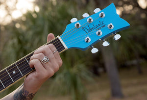 Daisy Rock Guitars Candy Acoustic Guitar - Cotton Candy Blue DR7402 - The Guitar World