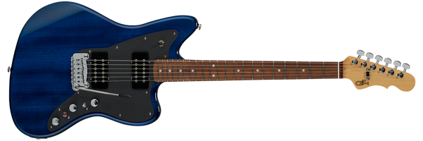 G&L CLF RESEARCH DOHENY V12 Electric Guitar in Clear Blue