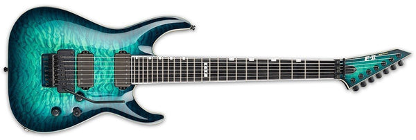 ESP E-II HORIZON FR-7 BLACK TURQUOISE BURST EIIHORFR7QMBLKTB EII - The Guitar World