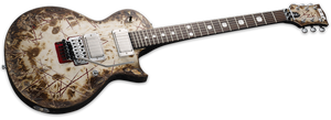 ESP Richard Z Signature Series Electric Guitar With Distressed Burnt Finish ERZKII - The Guitar World